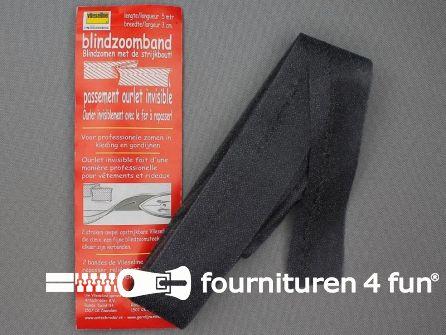Vlieseline® blindzoomband 5 meter / 30mm zwart