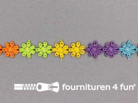 Bloemenkant 12mm multicolor bloemetjes