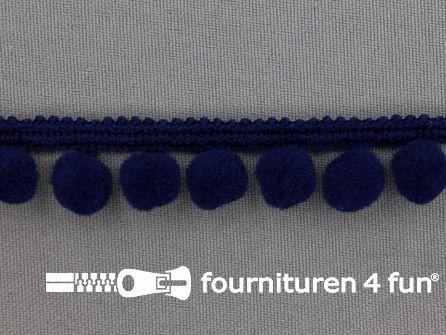 Bolletjesband 18mm donker blauw