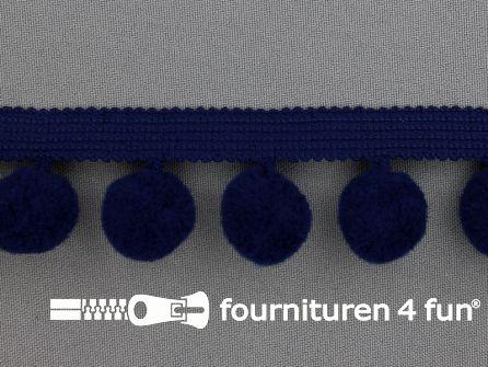 Bolletjesband 40mm donker blauw
