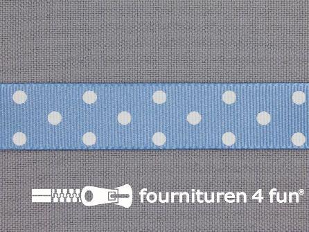 Bolletjes lint 15mm blauw