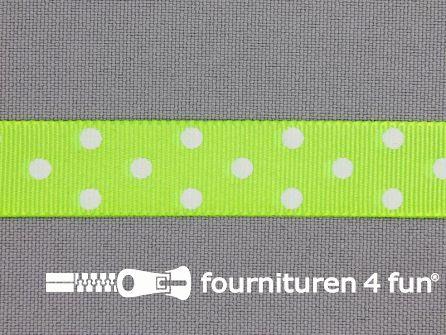 Bolletjes lint 15mm neon groen