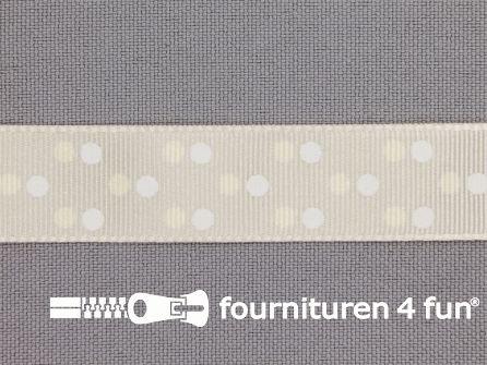 Bolletjes lint 15mm ecru