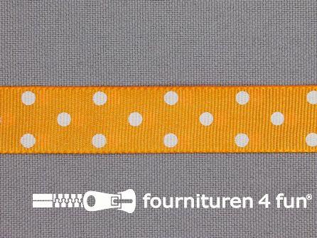 Bolletjes lint 15mm oranje