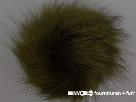 Bont pompon 12cm jagers groen