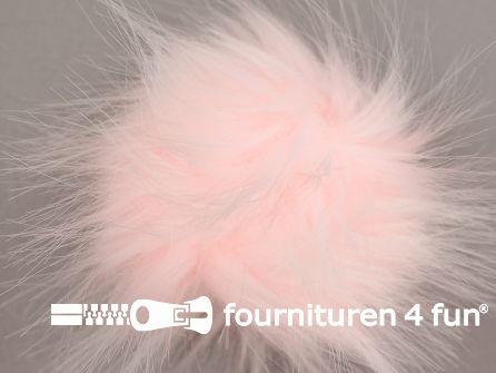 Bont pompon 12cm baby roze