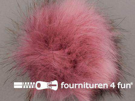 Bont pompon 12cm oud roze