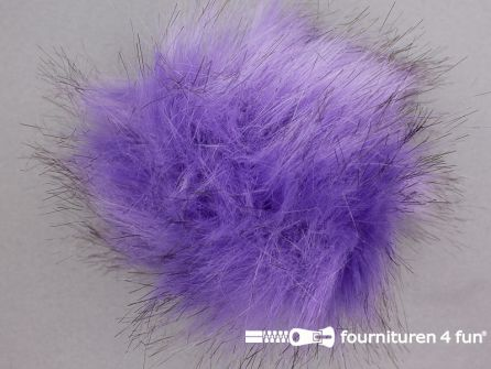 Bont pompon 12cm lila paars