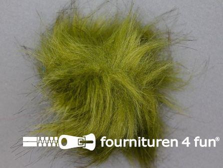 Bont pompon 8cm olijf groen