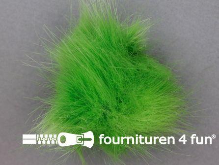 Bont pompon 8cm lime groen