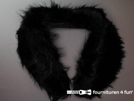 Bontkraag 90cm zwart