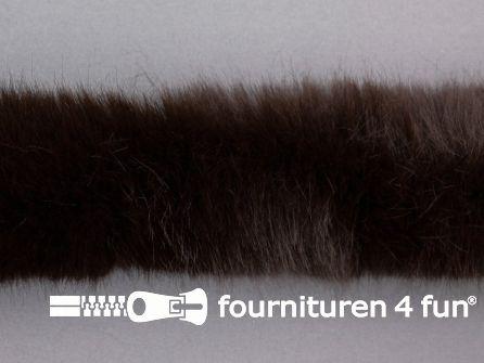 Bont rand per meter 50mm donker bruin