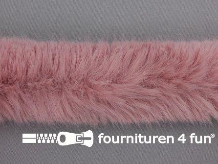 Bont rand per meter 50mm oud roze