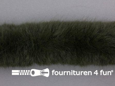 Bont rand per meter 50mm donker leger groen