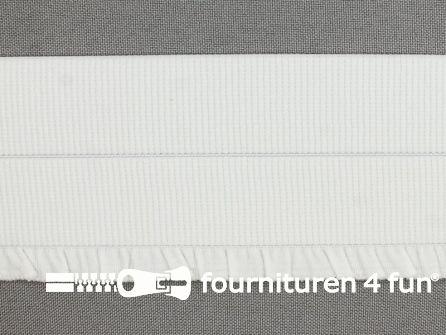 Boordelastiek - vouwbaar - 60mm wit