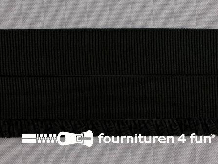 Boordelastiek - vouwbaar - 60mm zwart
