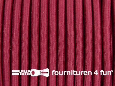Elastisch koord 4,5mm bordeaux rood