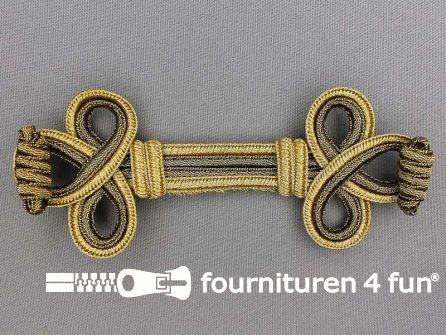 Brandenburger sierstuk 135x55mm goud - brons