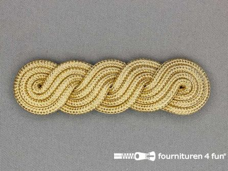 Brandenburger epaulet 27x100mm goud