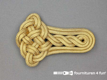 Brandenburger epaulet 75x110mm goud