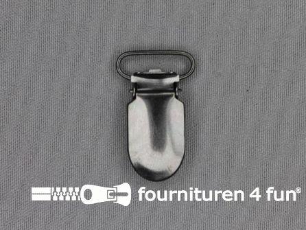 Bretelclips 20mm zwart zilver