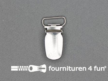 Bretelclips 15mm zilver