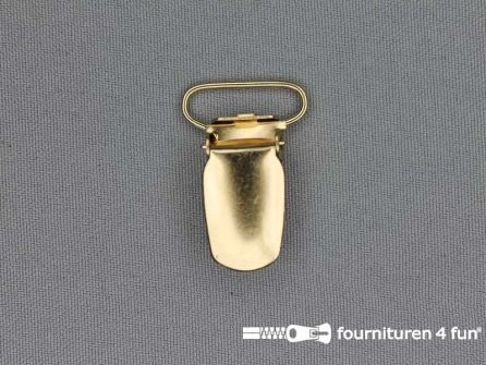 Bretelclips 20mm goud
