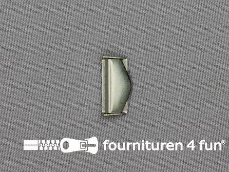 Bretelversteller 20mm oud zilver