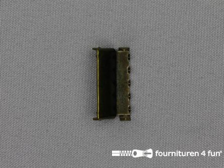Bretelversteller 25mm geel brons
