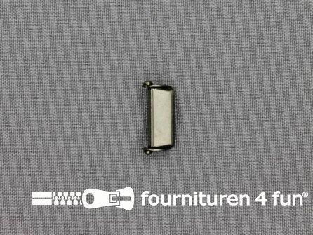 Bretelversteller 18mm antiek zilver