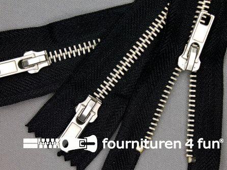 10 stuks metalen broek ritsen 18cm zwart