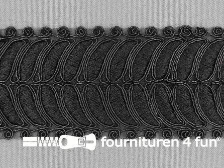 Brokaat band 55mm zwart