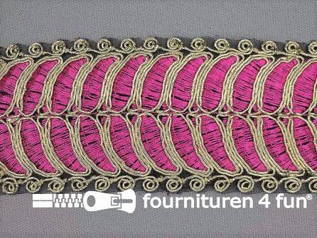 Brokaat band 55mm roze goud