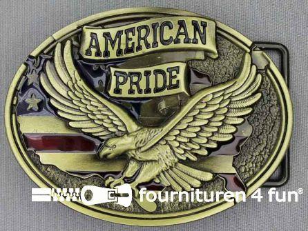 Buckle American pride brons