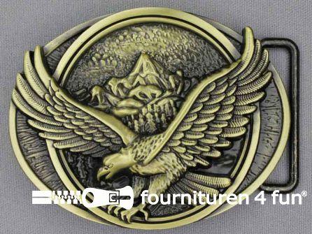 Buckle eagle brons