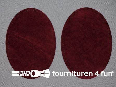 Elleboogstukken / kniestukken suèdine 140x100mm burgundy rood