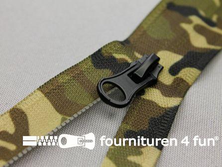 Deelbare camouflage rits - 70CM