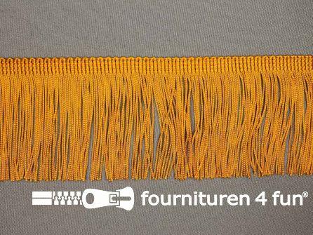 Charleston franje 70mm oker geel-oranje
