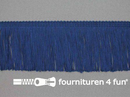 Charleston franje 70mm marine blauw