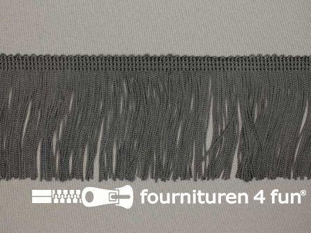Charleston franje 70mm donker grijs