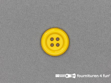 Clown knoop 23mm mais geel