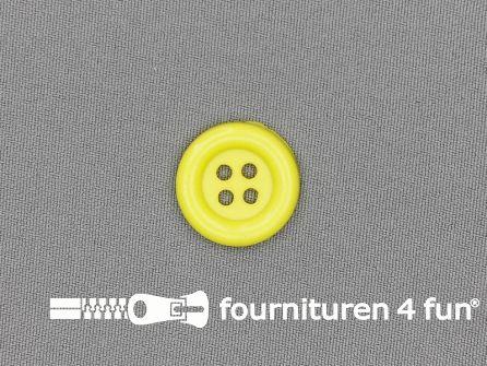 Clown knoop 23mm fel geel