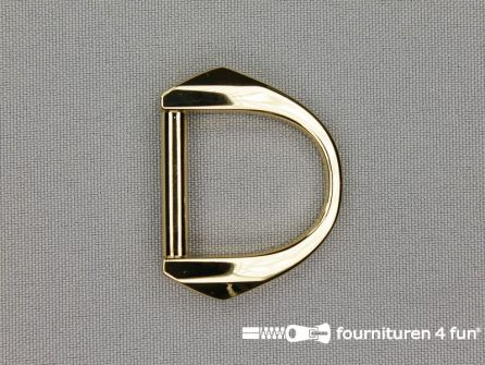 Luxe D-ring 25mm goud