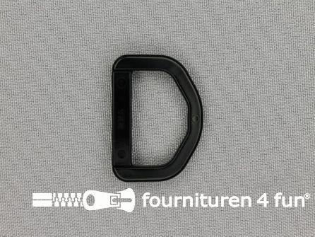 D-ring 25mm kunststof zwart
