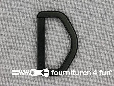 D-ring 39mm kunststof zwart