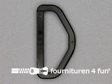 D-ring 50mm kunststof zwart