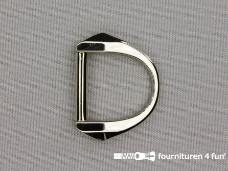 Luxe D-ring 25mm chroom
