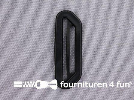 Kunststof schuifgesp 40mm + 30mm zwart
