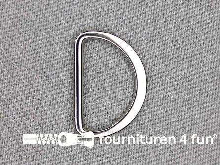 D-ring 30mm chroom rond / plat