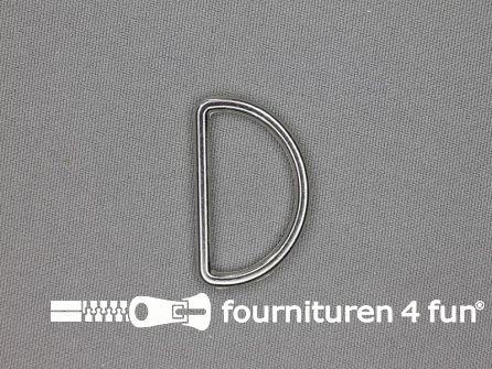 D-ring 30mm chroom rond